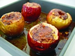 Candy Bar Stuffed Baked Apples