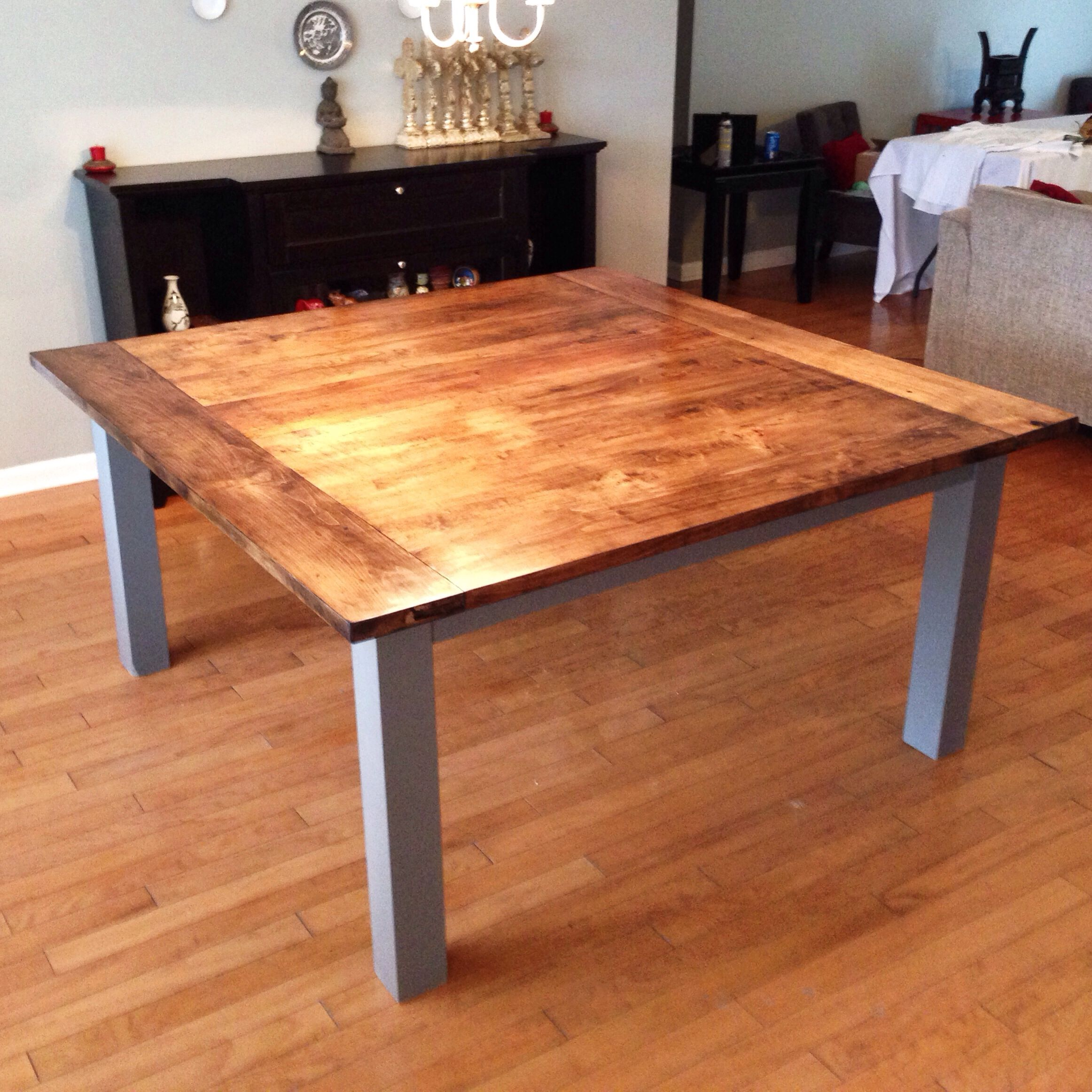 Shiro Walnut Dark Wood Modern Furniture Large Dining Table: Large Stained Maple, Solid Wood Dining Table. Stained Dark