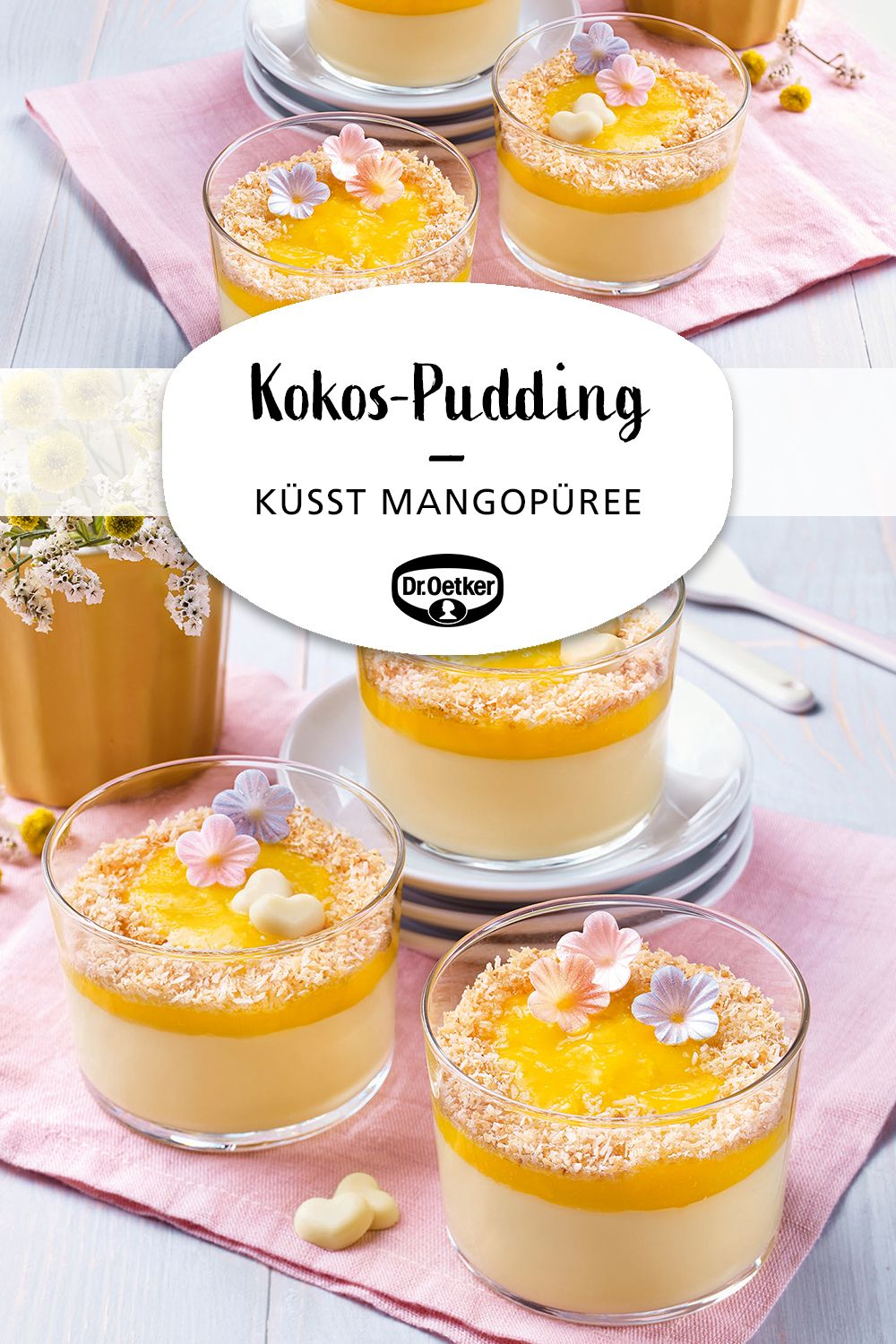 Photo of Coconut pudding kisses mango puree