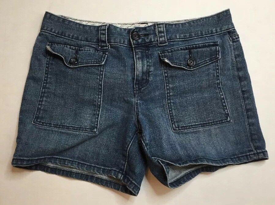 bdd17b3100b99 Gap 1969 Limited Edition Women s Size 12 Denim Shorts Blue Jean Patch  Pocket  Gap