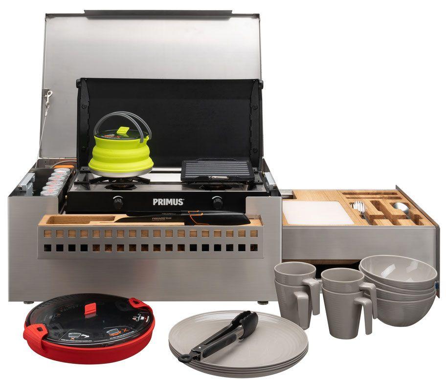Camping Küche Ideen: MOKUBO - Mobile Küchenbox Mit Komplettem Inhalt