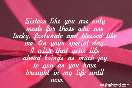 Sisters Like You Are Only Made For Those Who Are Lucky Fortunate