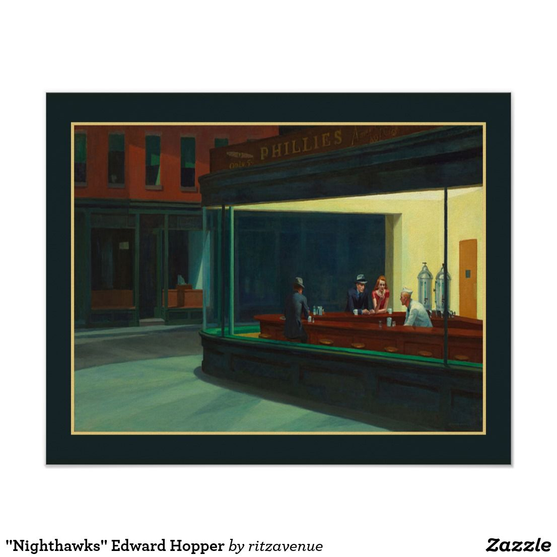 Nighthawks Edward Hopper Poster Zazzle Com Edward Hopper Edward Hopper Paintings Hopper Art