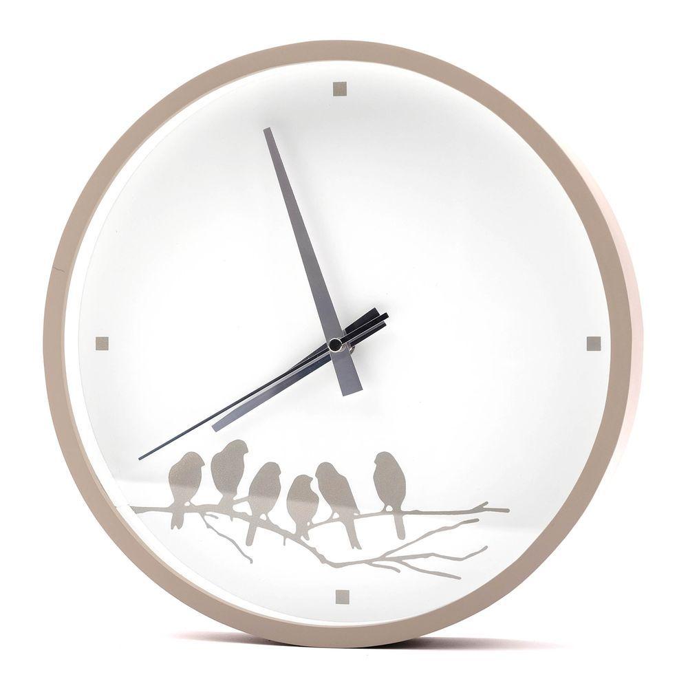 Wall Mounting Bird Clock Spring White Grey 114 Wall Clock No