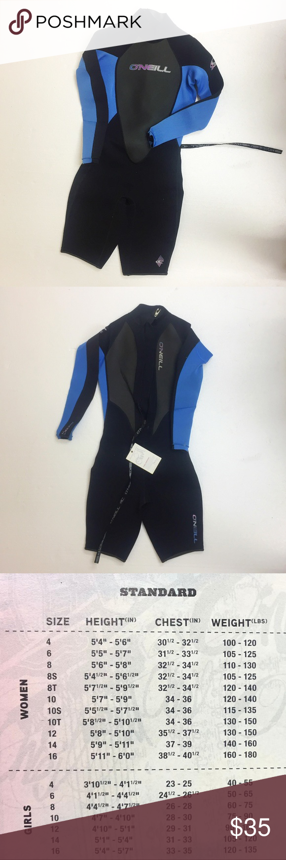 Women S Wetsuit O Neill Reactor Spring Long Sleeve Sizes 4 And 14 Available See Size Chart For Proper Fit Fluid Flex Cons Womens Wetsuit Wetsuit Long Sleeve