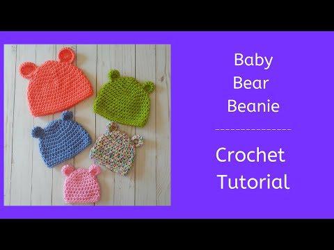 Baby Bear Hat 5 Sizes – Free Crochet Pattern