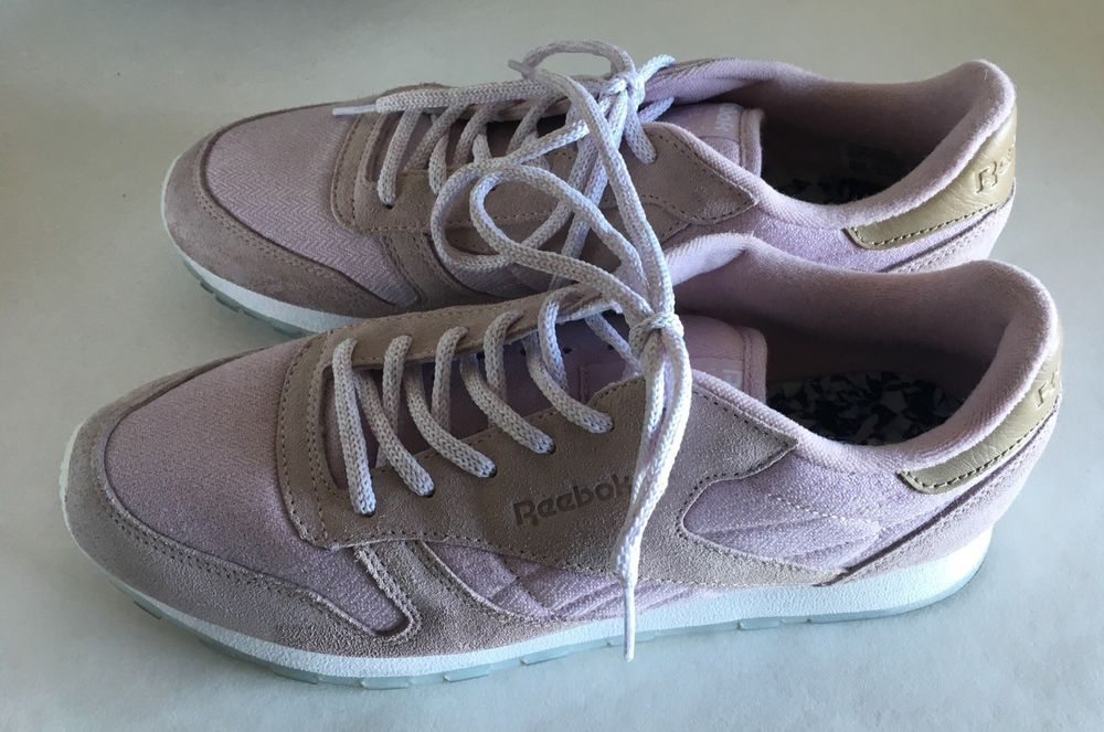 0462713926d Reebok classic leather sea-worn shell purple pink womens us 10 eu 41  Sneakers