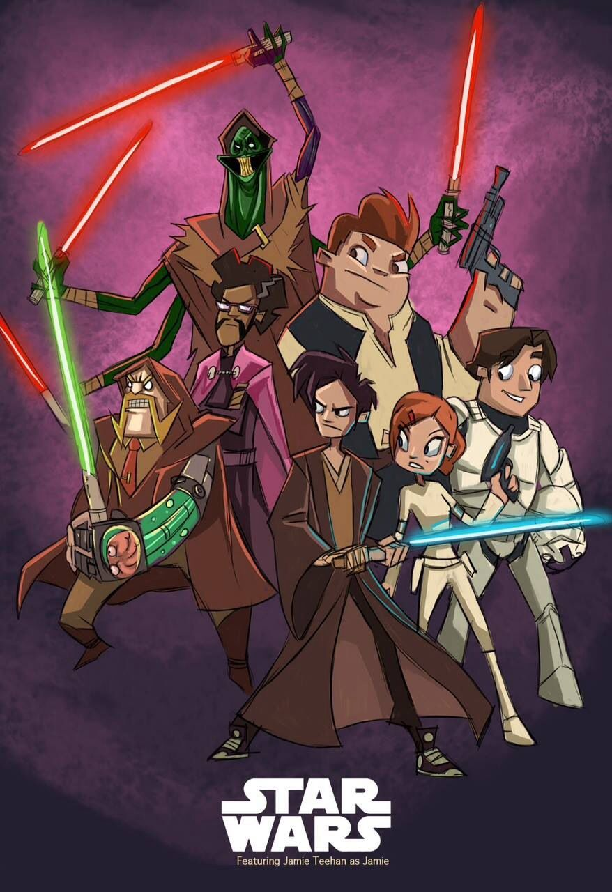 Screenshot Wallpaper Gravity Falls Randy Cunningham Star Wars Crossover So Bruce Secret