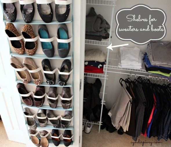Brilliant Shoe Organization Ideas | Shoe organizer, Closet