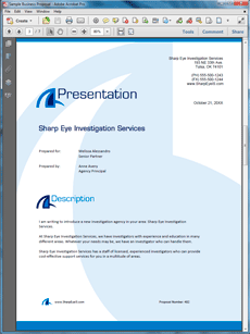 Private Eye Investigation Services Sample Proposal  Create Your