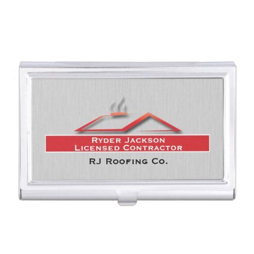 Construction roofing business card holder business card holders shop construction roofing business card holder created by businessdesignsshop personalize it with photos text or purchase as is reheart Choice Image