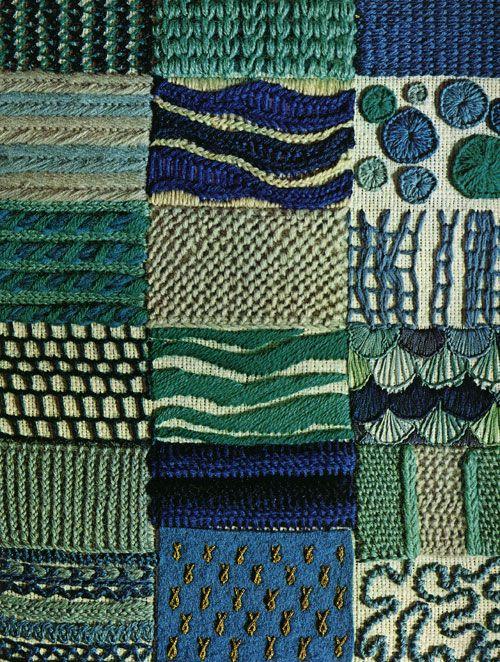 erica wilson stitch sampler, 1973