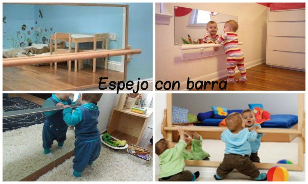 Espejo con barra montessori montessori pinterest for Espejo montessori