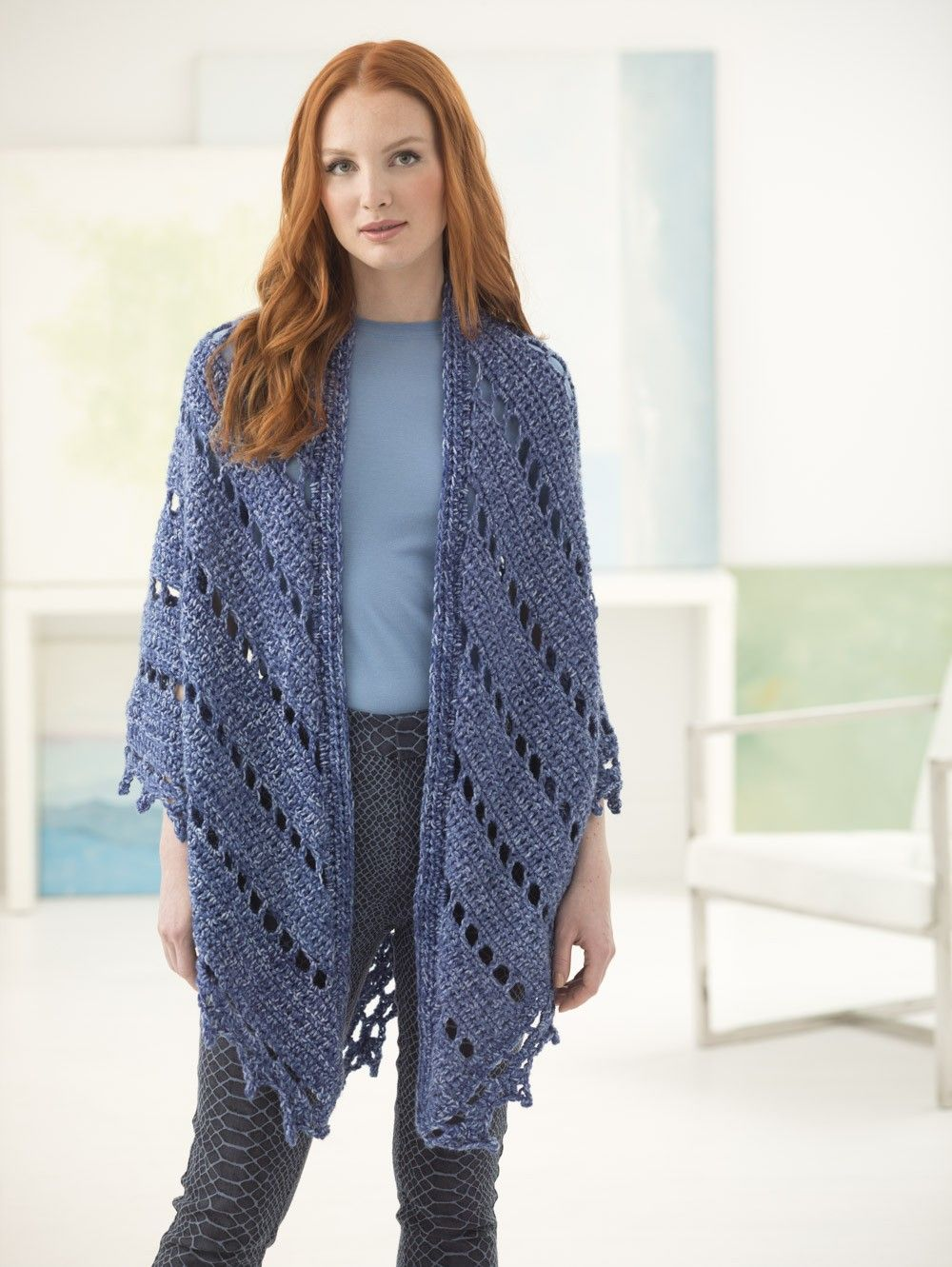 Free Pattern: Everyday Eyelets Shawl | Crochet Free Patterns | Pinterest