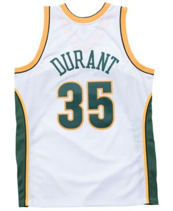 58fe2385ba6 Mitchell   Ness Men s Kevin Durant Seattle SuperSonics Hardwood Classic  Swingman Jersey - White Green XL