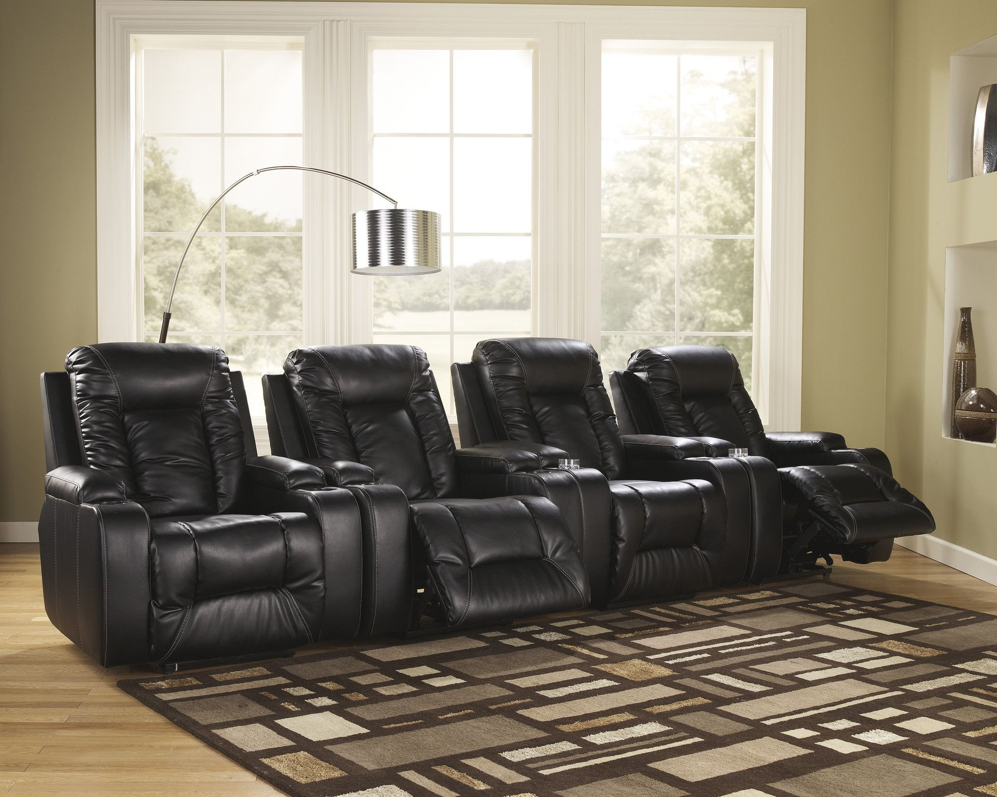 Matinee 4pc Home Theater Power Recliner Set u2013 Outfit My Home : home theater power recliners - islam-shia.org