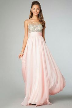 Long prom dresses with beaded illusion sleeveless bodices from JVN by  Jovani. vestidos juveniles para invitadas de boda - Buscar con Google aafbaccb96f6