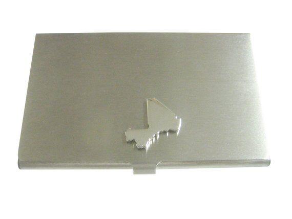 mali map shape pendant business card holder  business
