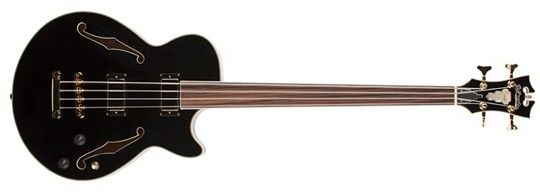 Image for EX-BASS Semi-Hollow Body Fretless Electric Bass Guitar from SamAsh