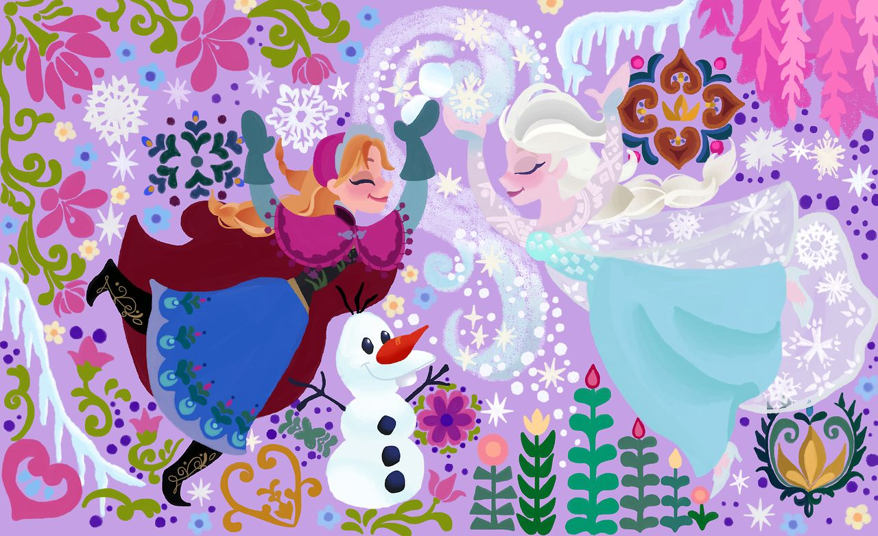 Di disney frozen wall murals - These Are All My Drawings Of Disney Movies Based On Rapunzel S Wall Paintings Illustrated By Claire Keane D I Know There Are More Movies But They Are Too