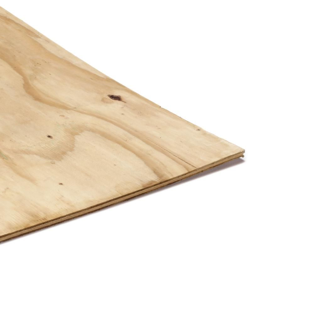 Exterior Grade Plywood Home Depot: 1/2 In. X 4 Ft. X 8 Ft. CDX Ground Contact Pressure