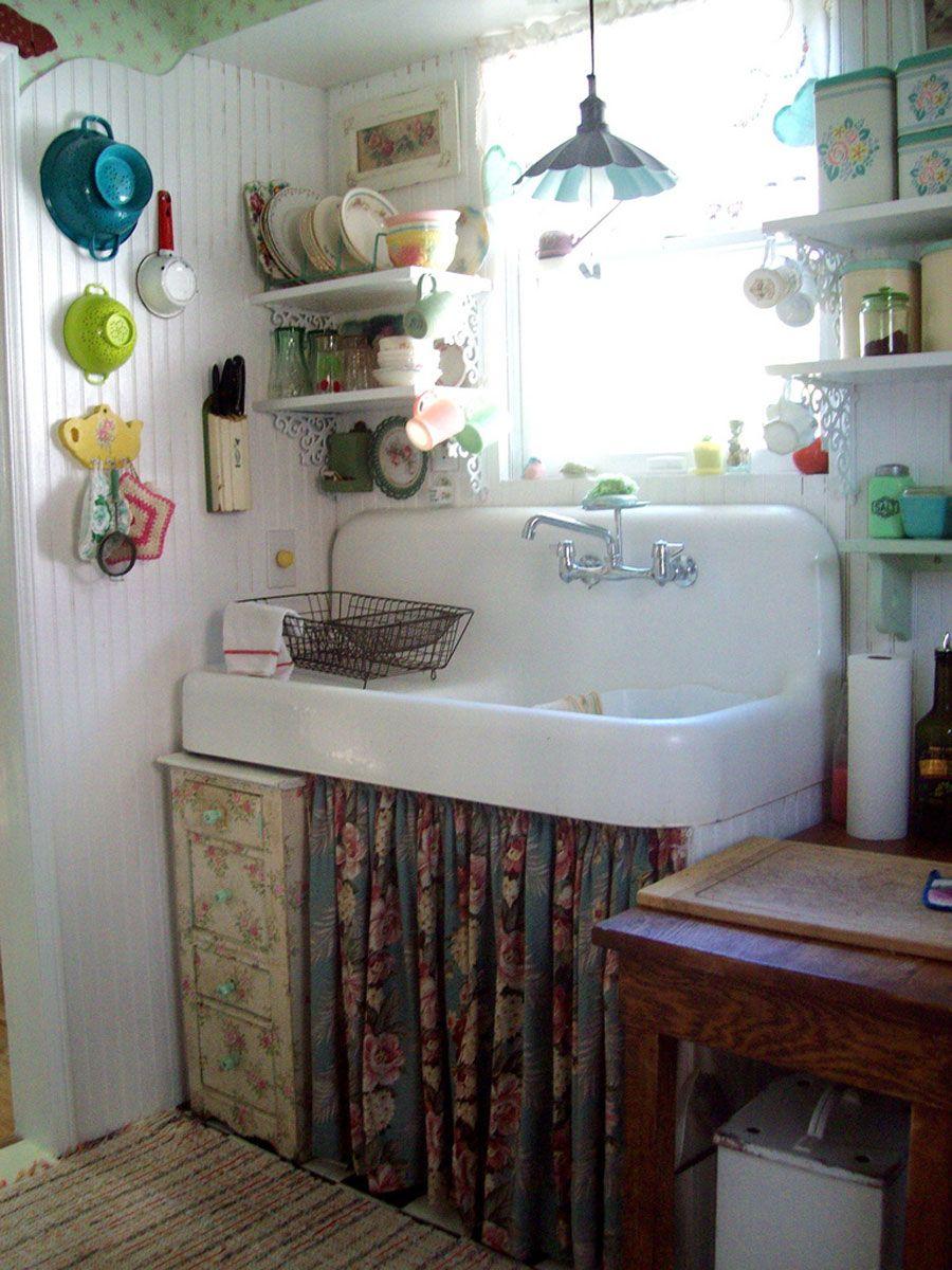 garden cottage vintage k che haus und boho k che. Black Bedroom Furniture Sets. Home Design Ideas