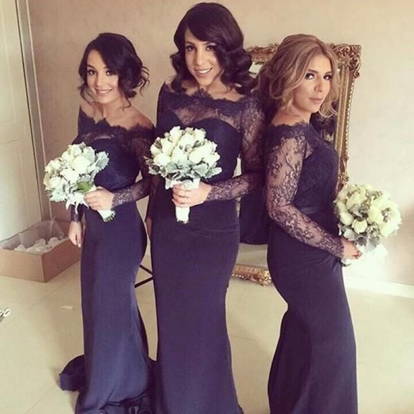Plum Bridesmaid Dresses With Sleeves