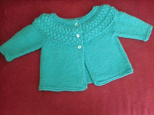 Ravelry: Sideways Cable Yoke Baby Sweater pattern by Liz Hartman ...