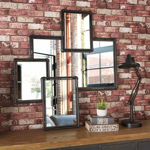 4 miroirs en métal noir HUDSON miroir chambre Pinterest Metals