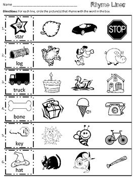 rhyme lines freebie rhyming round up rhyming worksheet rhyming kindergarten preschool. Black Bedroom Furniture Sets. Home Design Ideas