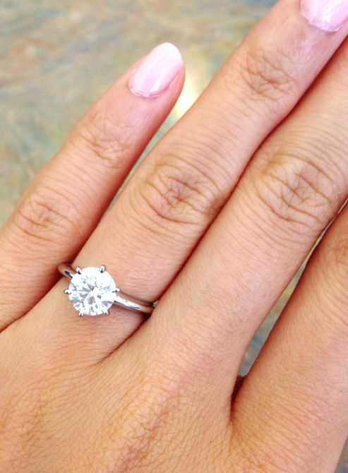 Engaged Here Is My 1 Carat Beauty On My Size 3 Finger Weddingbee Engagement Ring On Hand 1 Carat Engagement Rings Engagement Rings On Finger
