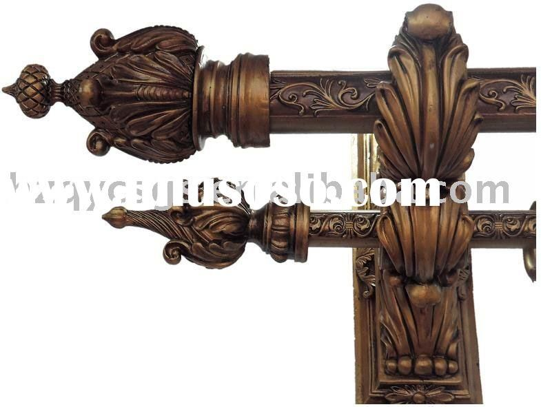Window Use Double Wooden Curtain Rod Dp 58 35 1 D
