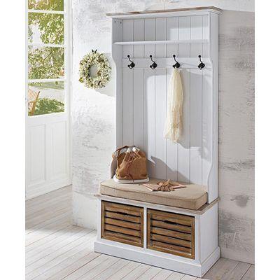 Mobelkultura Garderobe Burgund Mit 4 Kleiderhaken 1 Hutablage