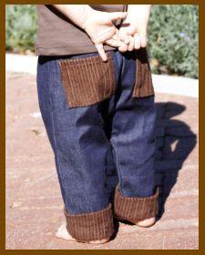 Christian Clothing | Faith Baby | Boy's Denim Cuffed Pants.  FaithBaby.com