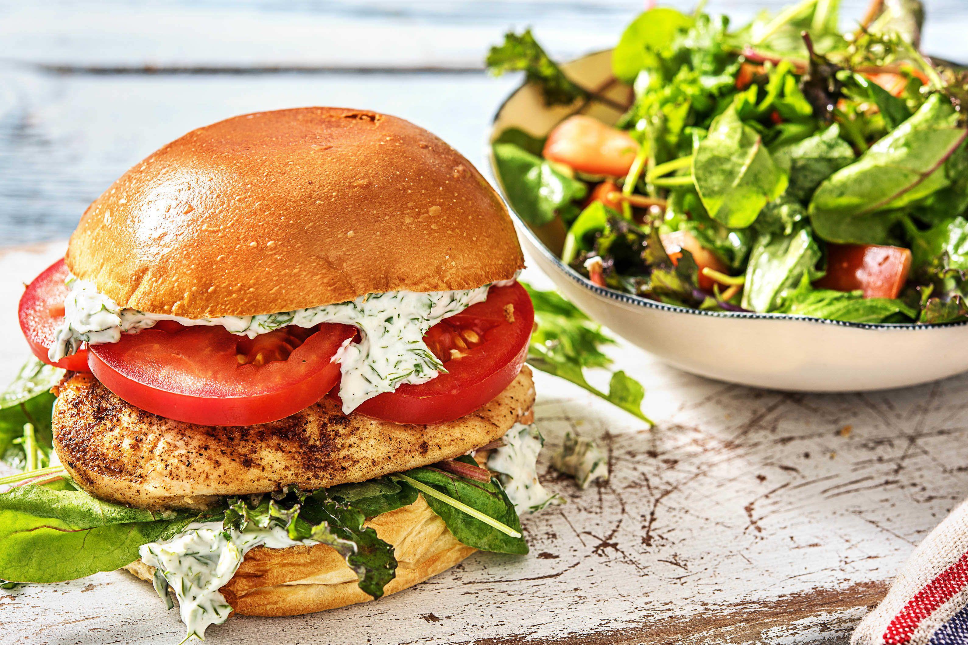 Cajun Spiced Chicken Burger Recipe Hellofresh Recipe Hello Fresh Recipes Chicken Burgers Chicken Spices