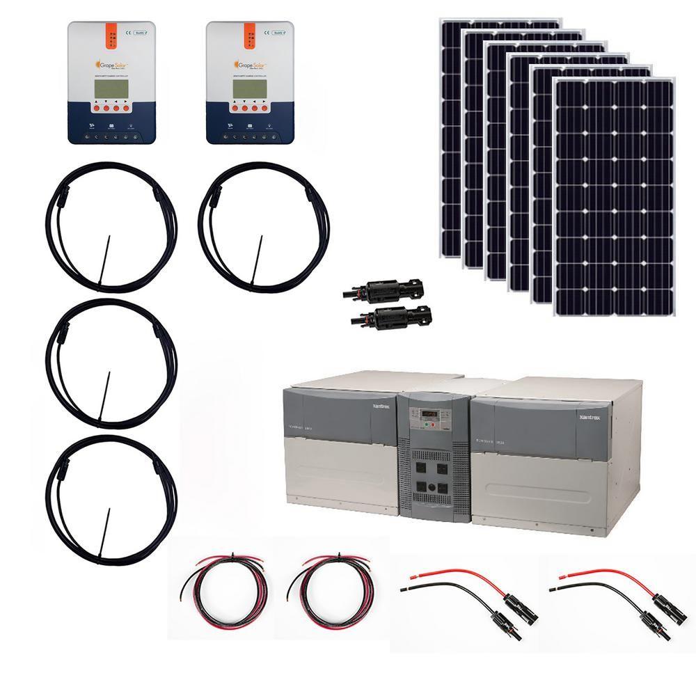 Grape Solar 1 080 Watt Off Grid Solar Generator Kit Products Off Grid Solar Solar Generator Off Grid Solar Panels