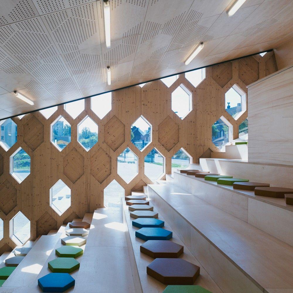 School Interior Design: Gallery Of Andrée Chedid Media Library / D'HOUNDT+BAJART