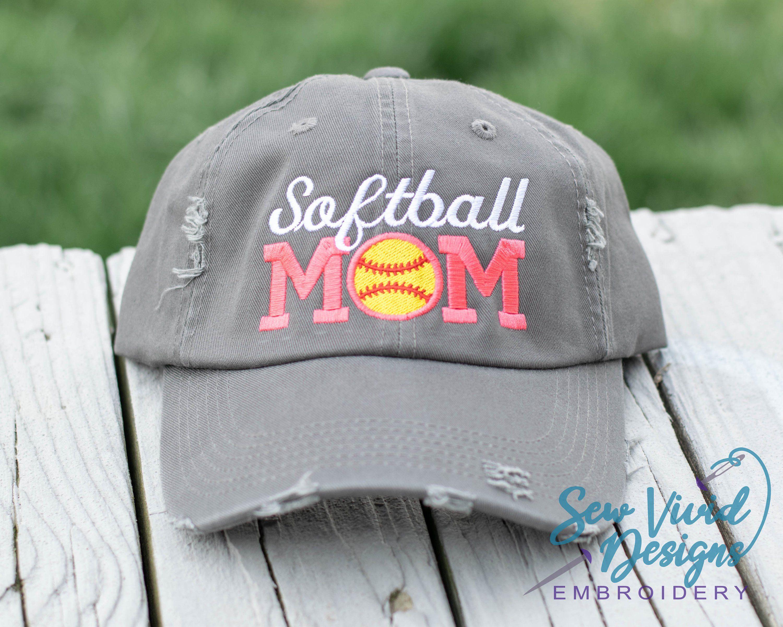 397bf8cdb066a Softball Mom Distressed Baseball Ponytail and Trucker Options ...