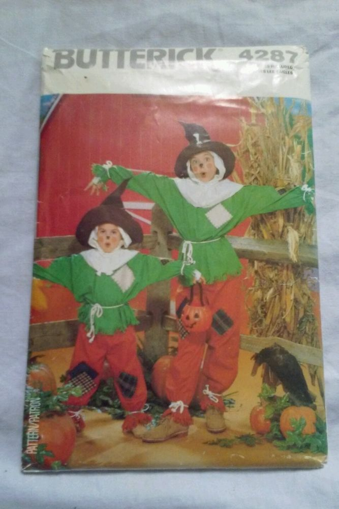 Butterick 4287 Vintage Scarecrow Costume Sewing Pattern… | Projects ...