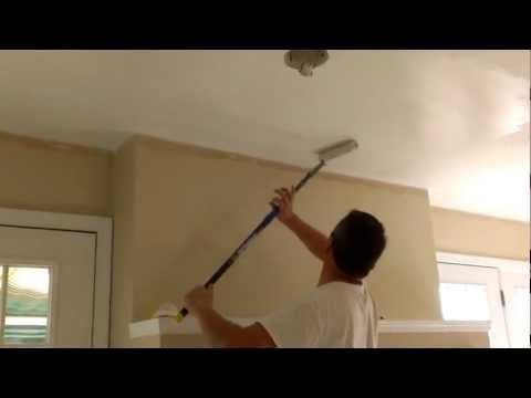 How To Paint Ceilings In 10 Minutes Youtube Painted Ceiling Drywall Ceiling Best Ceiling Paint