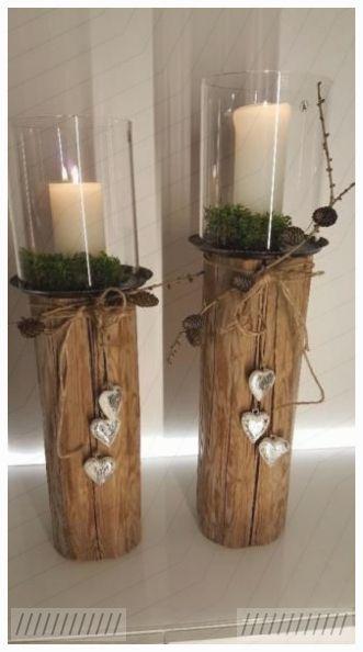 Basteleien Windlicht Holz Dekoration Laterne Kerze
