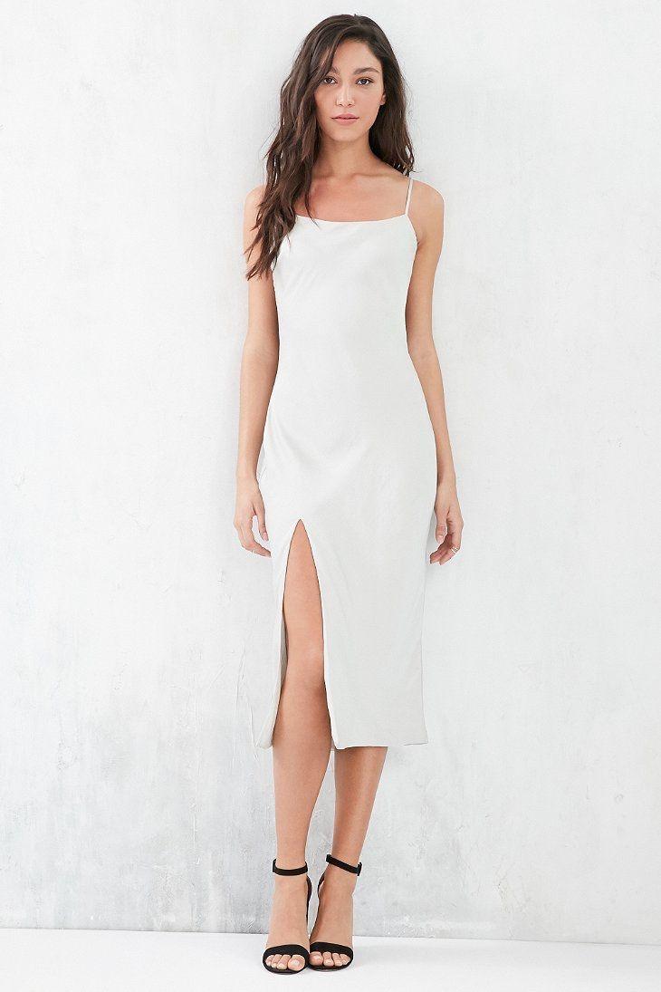 Capulet satin midi slip dress slip dress urban dresses