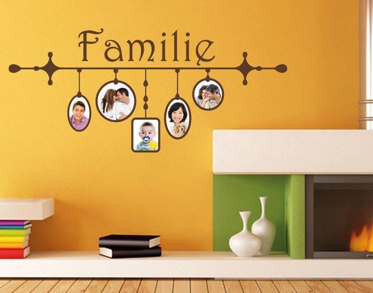 tapete bilderrahmen wandtattooo familie von bilderwand pinterest. Black Bedroom Furniture Sets. Home Design Ideas