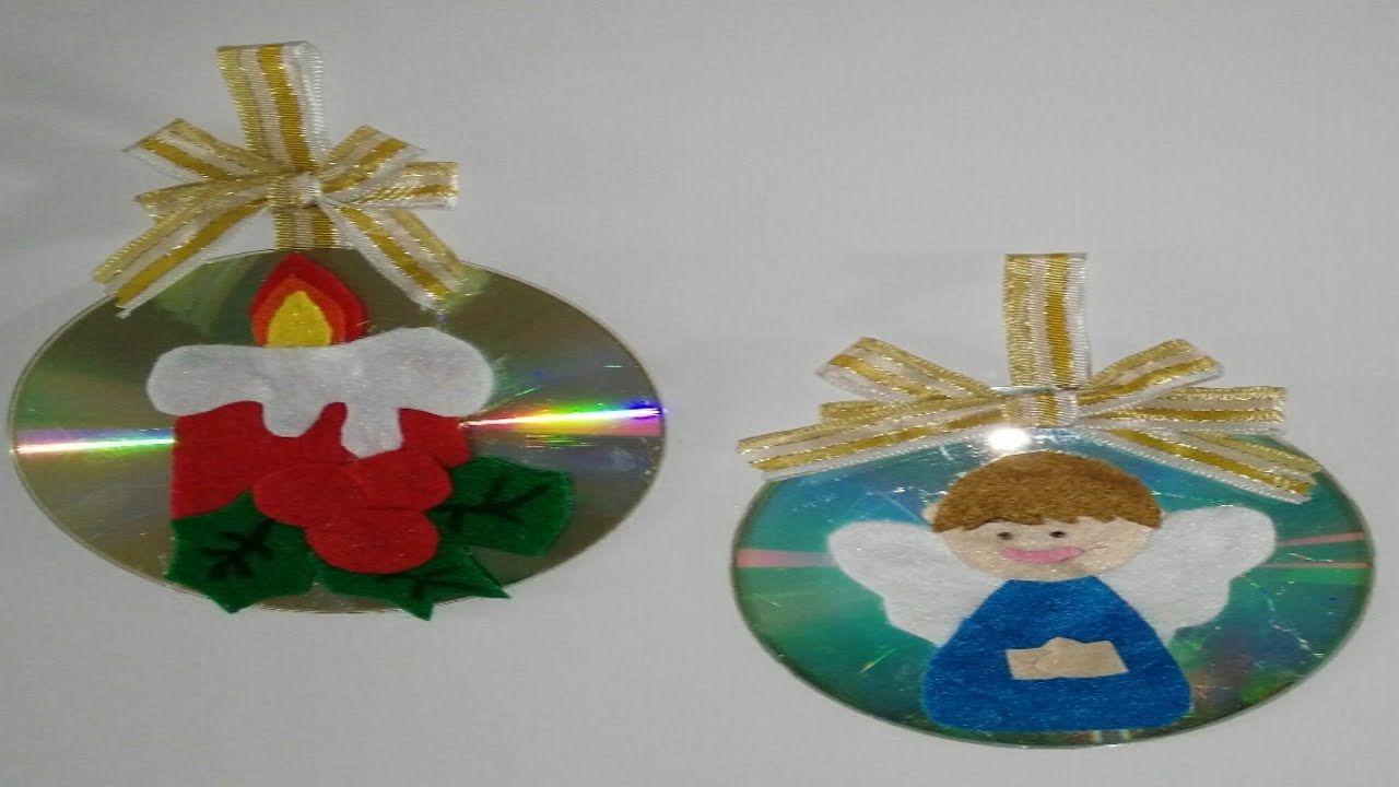 Como Hacer Adornos Navidenos Con Cd Para El Arbol De Navidad - Adornos-de-navidad-reciclados-como-hacerlos