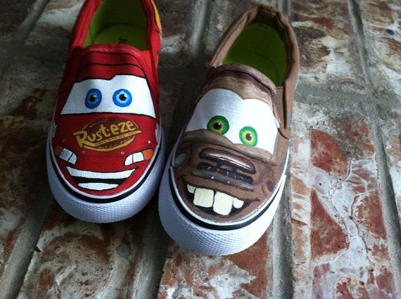 34ab7883217a9 Lightning McQueen/ Tow Mater Theme on TOMS | Geeky McSqueaky in 2019 ...