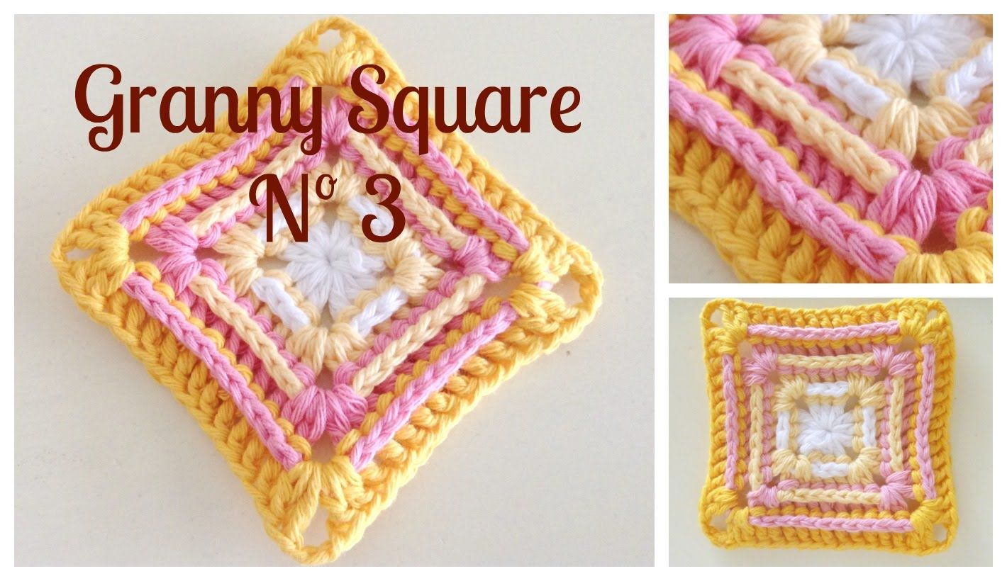 Cuadrado de la abuelita Nº3 | Crochet Granny Squares and other ...