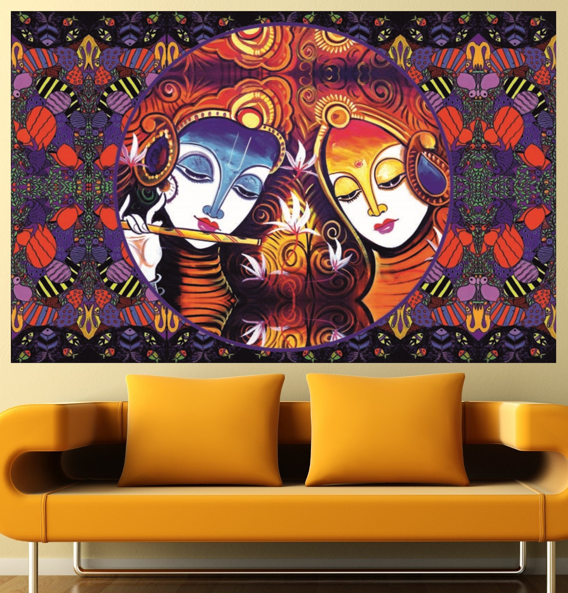 Imperialwallart777 100 artwork exclusive radha krishna deity wall artwork exclusive radha krishna deity wall decal print poster easy to peel and stick wall art self adhesive vinyl sticker waterproof wallpaper art mural amipublicfo Choice Image