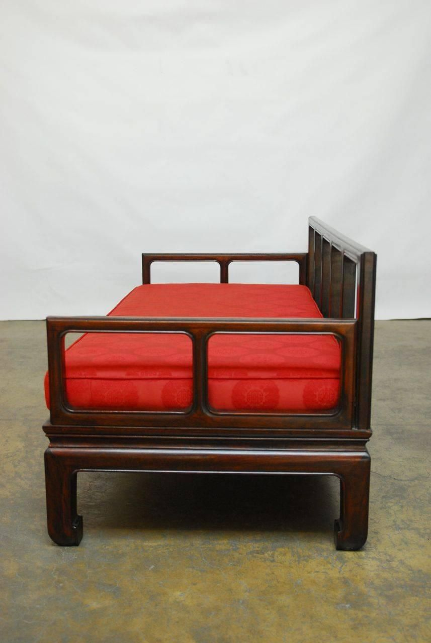 Chinese Ming Style Carved Rosewood Daybed 1950 Daybeds