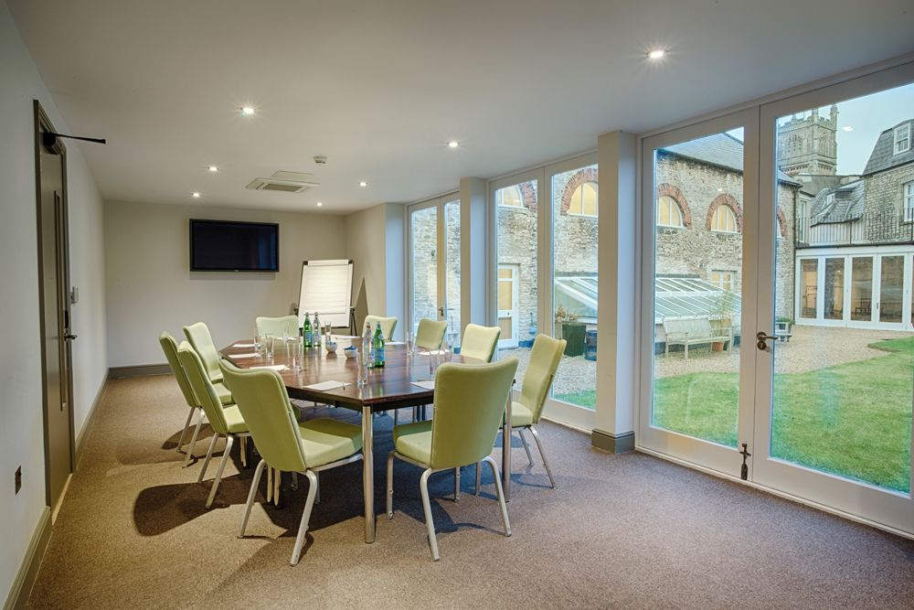Watermoor is our smaller, yet beautiful, meeting room with views out over the Roof Garden this space is filled with an abundance of natural light ideal for all-day meetings. #Cirencester #TheCotswolds #Gloucestershire