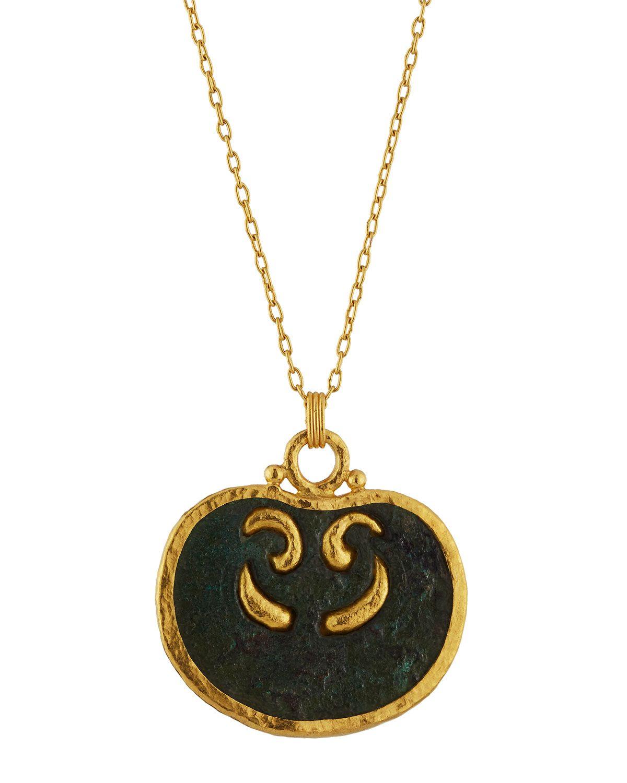 Gurhan One-of-a-Kind 24k Antique Roman Pendant Necklace, Women's, Gold